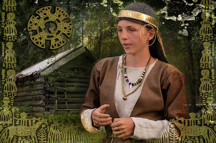Реконструкция костюма народа мурома./Фото: picspark.ru